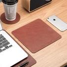 頭層牛皮滑鼠墊桌墊可定制真皮超大防滑簡約辦公家用防水防污皮墊
