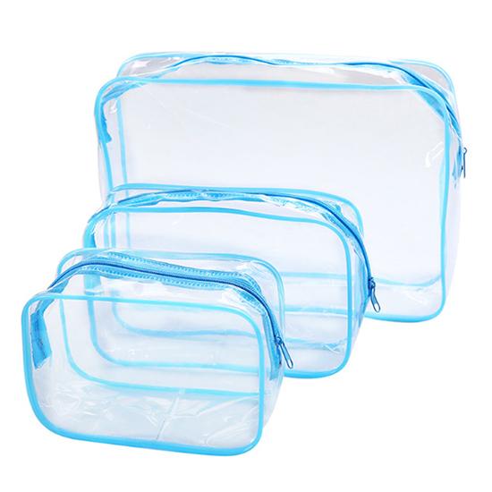 手拿包 洗漱包 防塵包 防塵袋 分類 文具 旅行 化妝品 數據線 加厚 PVC透明化妝包(中) 【G046】MY COLOR