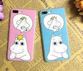 【SZ14】 iphone 6 plus手機殼 蠶絲紋姆明 iPhone 7/8 plus 保護殼 iPhone 7/8 保護殼 iphone 6s 手機殼