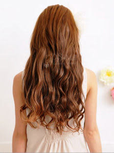 Qmishop DIY自然系全套七片 捲髮接髮片假髮 高溫髮絲 可電棒燙【QP033】
