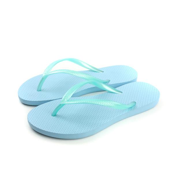 夾腳拖鞋 藍色 女鞋 no139