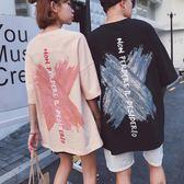 嘻哈涂鴉短袖T恤學生刷漆半袖上衣潮