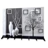 屏風隔斷客廳歐式簡易移動折疊玄關辦公雙面布藝簡約現代臥室折屏YJT