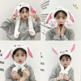 韓國卡通一捏耳朵會動帽子氣囊帽可愛兔子頭套抖音自拍賣萌道具女
