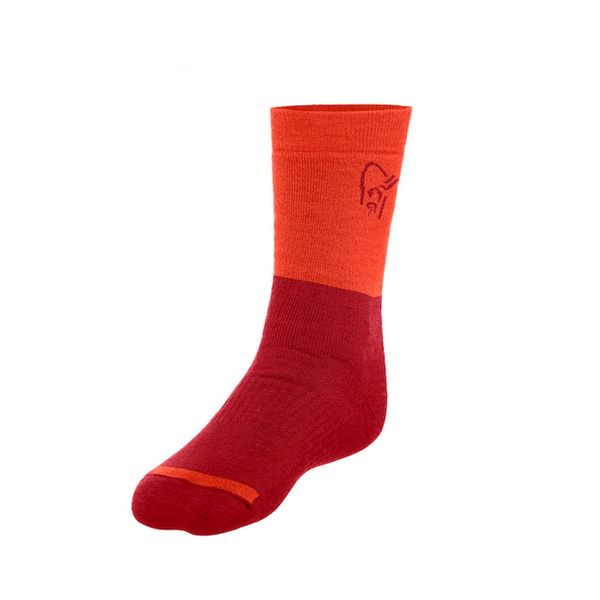 Norrona 老人頭 trollveggen Heavy Weight Merino Socks 美麗諾羊毛登山襪 加厚 花旦紅