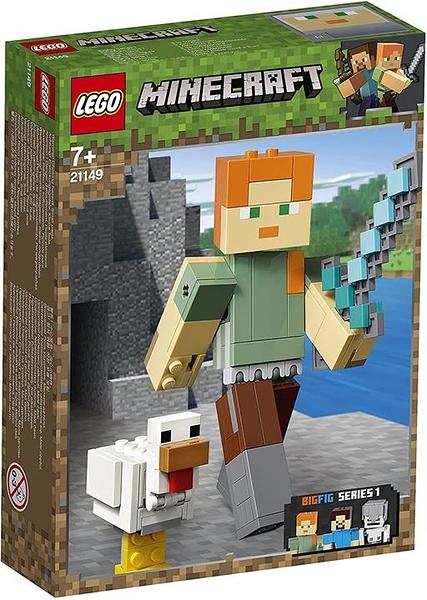 LEGO 樂高 我的世界 我的世界 大飛 Alex和尼瓦特裡 21149 積木玩具 男孩