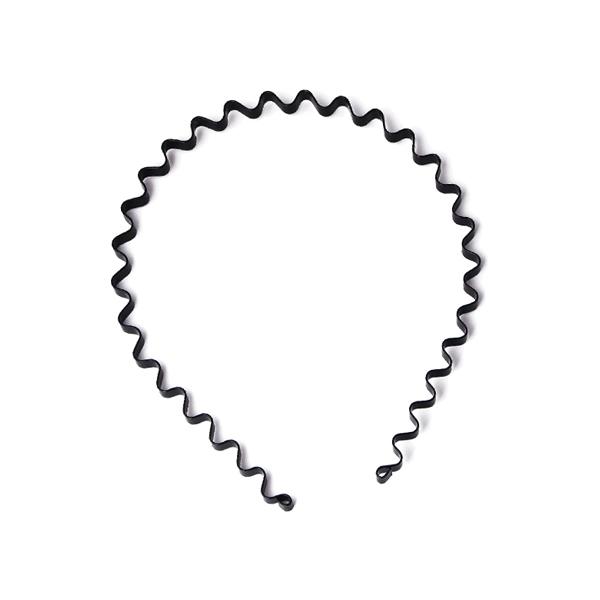 時尚波浪髮箍(細版/質感黑)【小三美日】