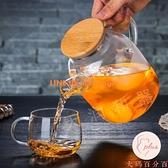 冷水壺大容量耐熱玻璃茶壺加厚涼水壺家用果汁壺【大碼百分百】