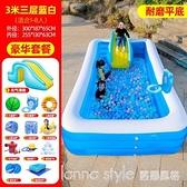 兒童充氣游泳池加厚家用小孩泳池嬰兒寶寶超大型游泳桶滑滑梯水池 全館新品85折