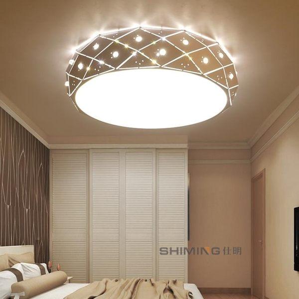 幾何LED臥室吸頂燈 台灣專用110V 圓形方形客廳房間餐廳過道燈具