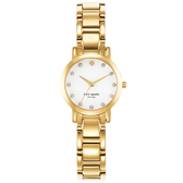 Kate Spade 艾斯皇后晶鑽時尚腕錶-白X金