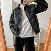 皮衣DAZO 秋季男士黑色質感皮衣寬鬆帥氣潮牌外套男韓版潮流加絨夾克 貝芙莉