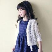 夏季新款寶寶針織開衫女童夏裝外搭空調衫外套輕薄防曬外衣 QQ1207『愛尚生活館』