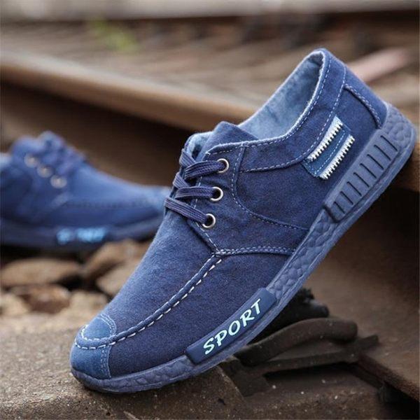 春季男士帆布鞋透氣板鞋防臭工作鞋子男布鞋