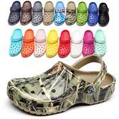 夏新涼鞋拖鞋子洞洞鞋男休閒沙灘鞋防滑包頭情侶克大碼男女  米蘭街頭