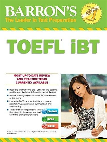 Barron's TOEFL IBT Internet-Based Test 15th Edition with Two MP3 CDs