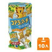 LOTTE 樂天 小熊餅家庭號-牛奶 195g (10入)/箱