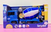 【震撼精品百貨 】德國BRUDER~1/16SIKU SUPER工程車-水泥車藍*02744