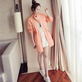中長款防曬衣女夏天長袖寬鬆大碼開衫空調衫薄款風衣外套 店家有好貨