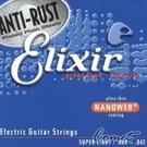 【缺貨】Elixir 頂級電吉他弦(12002)(09-42)NANOWEB【吉他弦專賣店/進口弦】