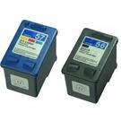 HP 環保墨水匣C6656A(56) + C6657A(57)(1黑1彩共2顆)適用DJ5160/5550/5650/5652/DJ9650/PSC1210/PSC2310/PCS1310/PSC1315