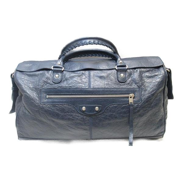 BALENCIAGA 巴黎世家 藍色羊皮手提斜背兩用包#340685 【二手名牌BRAND OFF】
