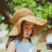 兒童童帽 女童草帽遮陽帽漁夫帽潮沙灘防曬兒童太陽帽寶寶涼帽夏 寶貝計畫
