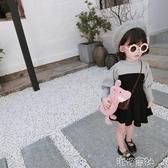 女童秋裝中小童純棉長袖泡泡袖洋裝正韓拼色甜美公主裙 【快速出貨】