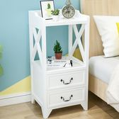 床頭櫃 簡歐整裝床頭櫃實木加寬簡約小櫃子創意臥室窄櫃歐式25cm床櫃迷妳