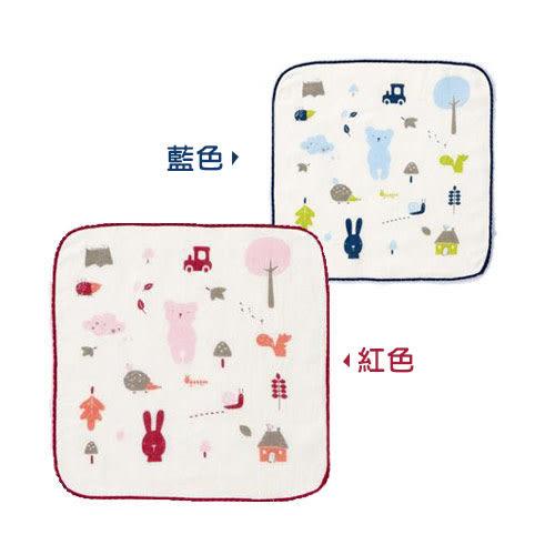 奇哥 紗布毛巾/方巾 (紅/藍)