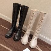 長靴 女過膝秋款新款高筒加絨小個子馬丁靴網紅瘦瘦靴騎士靴冬