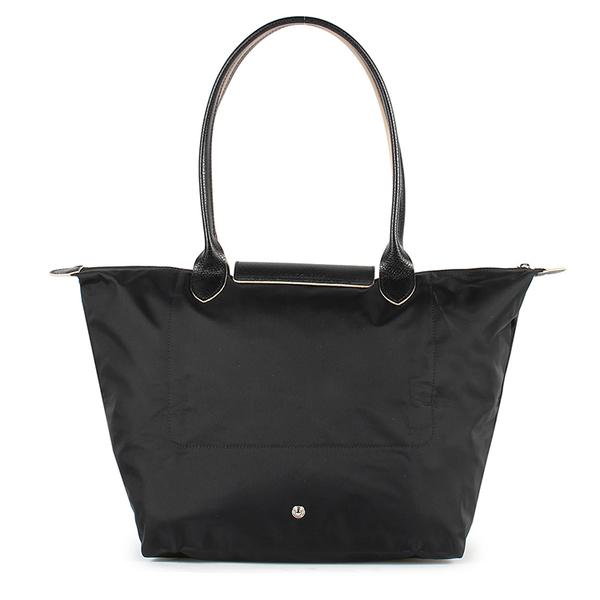 Longchamp 1899 LE PLIAGE刺繡尼龍水餃包L(黑色)480209