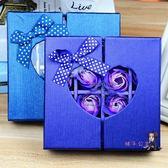 禮物 16朵對開愛心香皂花禮盒 母親七夕情人節創意禮品玫瑰花 生日禮物 2色