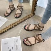 平底涼鞋女2020新款時尚韓版網紅百搭仙女風顯瘦羅馬度假沙灘鞋潮『居享優品』