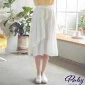 裙子 RCha。傘襬綁帶不規則鬆緊長裙-Ruby s 露比午茶
