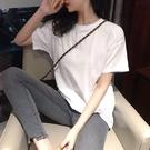 短袖T恤白色短袖t恤女純棉寬鬆半袖春夏裝新款ins純色打底衫內搭上衣女潮 貝芙莉