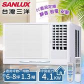 【台灣三洋SANLUX】6-8坪定頻窗型冷氣(220V電壓)。右吹式/SA-R41FE(含基本安裝)