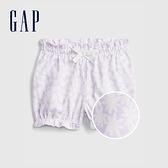 Gap嬰兒 布萊納系列 紮染純棉短褲 682705-紫色印花