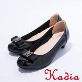 2016秋冬新品上市kadia.氣質典雅蝴蝶結牛皮包鞋(黑色)