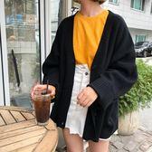 春季韓版女裝寬鬆單排扣毛衣開襟