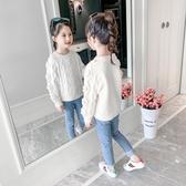 女童毛衣2019秋冬新款洋氣加厚兒童裝針織打底衫韓版套頭女孩上衣 草莓妞妞