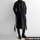 衣男長長風衣加厚防風大衣韓版修身外套【探索者戶外】