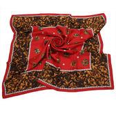Christian Dior 寶石藤蔓圖樣領帕巾(紅) 179016-3