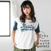 ❖ Hot item ❖  拼接配色字母T恤/上衣 - E hyphen world gallery