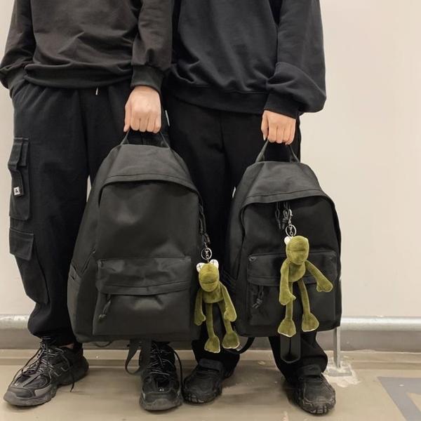後背包 大容量書包女韓版初高中大學生校園時尚百搭背包男潮流雙肩包黑色 印象家品