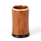 筆筒家居辦公桌上的擺件 紅木質創意時尚裝飾品實用商務禮品禮物