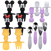 美國 Bumkins 寶寶矽膠湯叉組 迪士尼 寶寶不鏽鋼叉匙組 叉子 湯匙 叉匙組 5153 學習餐具