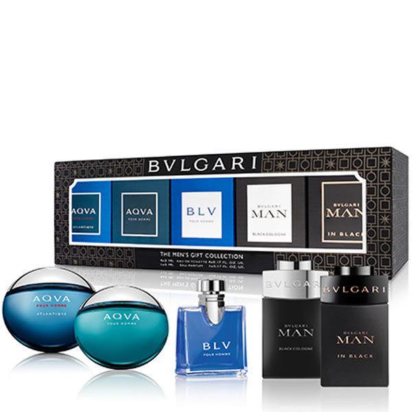 BVLGARI 寶格麗 男小香禮盒 (77107) 5ml*5 勁藍水能量/水能量/藍茶/真我/當代冰海《Belle倍莉小舖》