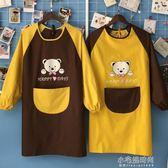 兒童罩衣防水長袖圍裙幼兒園繪畫美術畫畫衣吃飯反穿定制logo印字『小宅妮時尚』