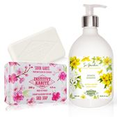 IKP巴黎乳油木 茉莉花園香氛液體皂(500ml)+櫻花手工皂(200g)